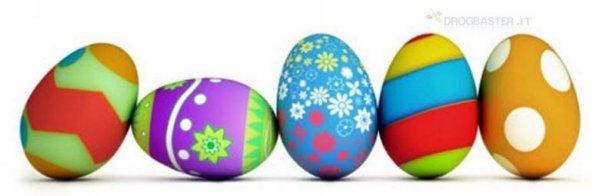 Uova decorate per la copertina Facebbok