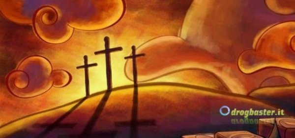 copertina via crucis sfondo per Pasqua