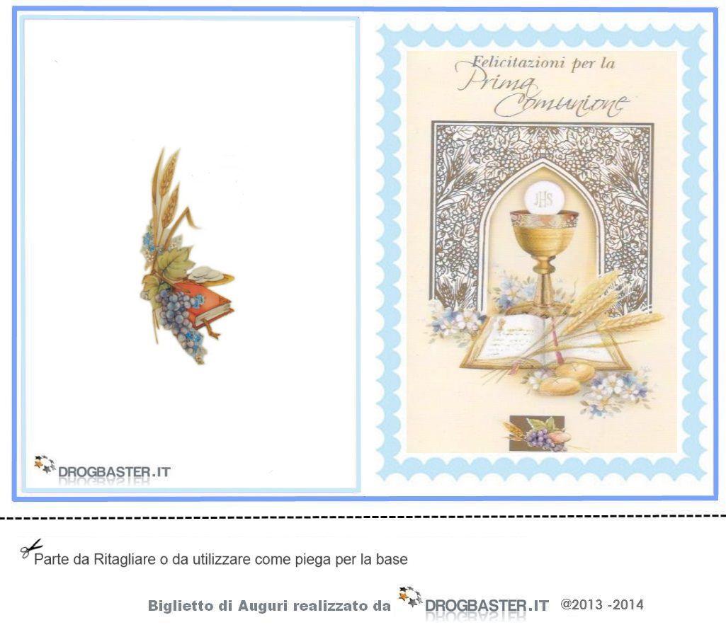 Fabuleux Biglietti Prima Comunione - Cresima da stampare gratis SO51