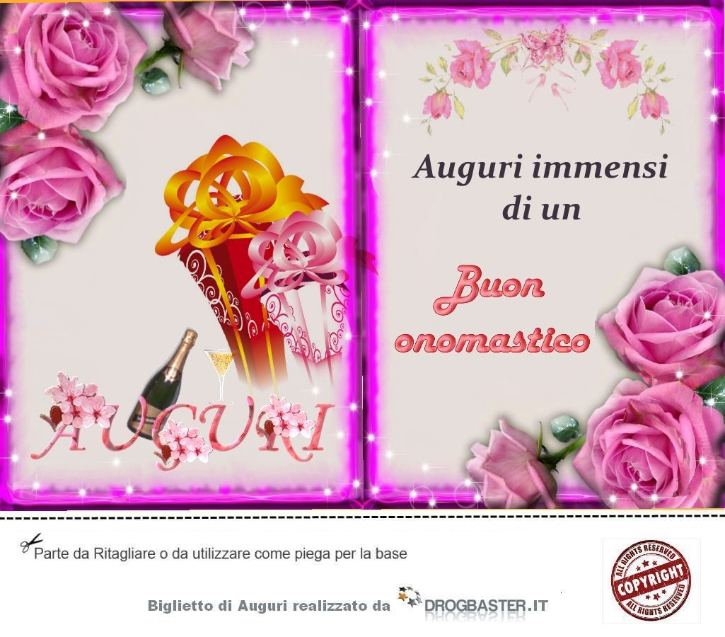 Scarica gratis biglietti auguri festa onomastico - Immagini da colorare di rose ...