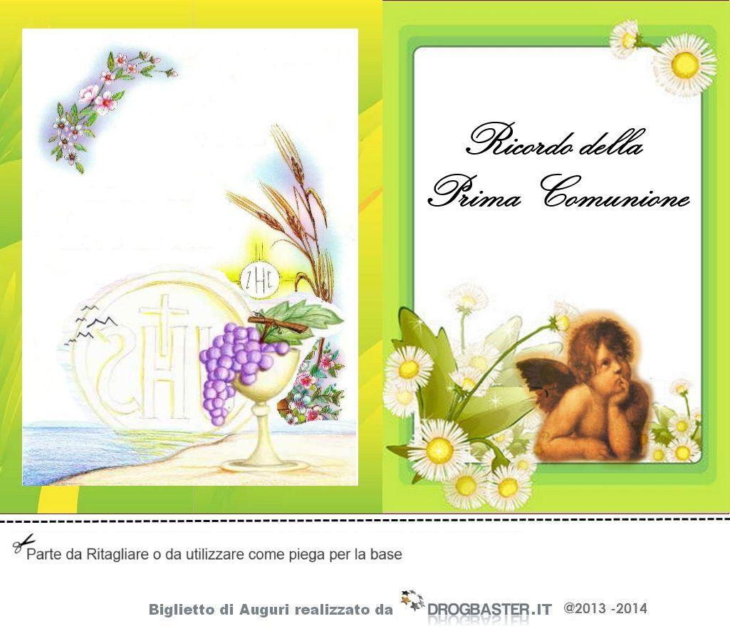 biglietti di auguri prima comunione da