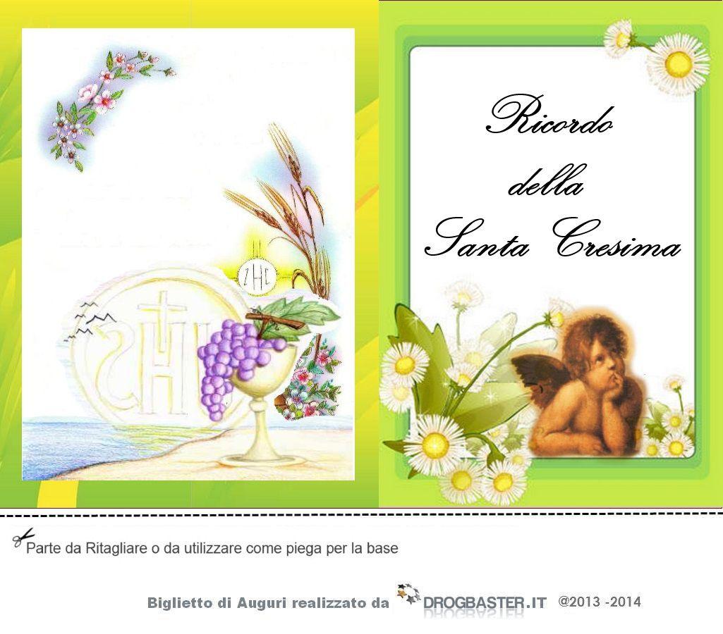Connu Biglietti ringraziamento Prima Comunione e Cresima JD46