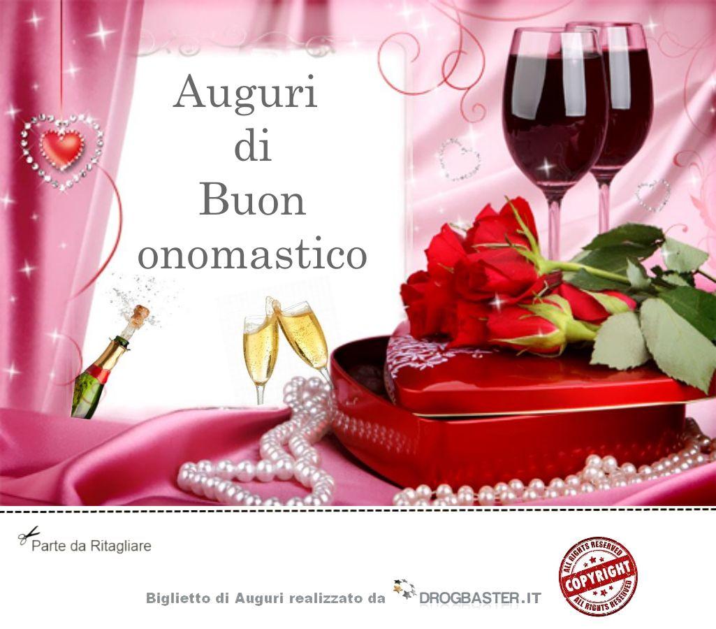 Favoloso Scarica gratis biglietti auguri festa Onomastico ZP39