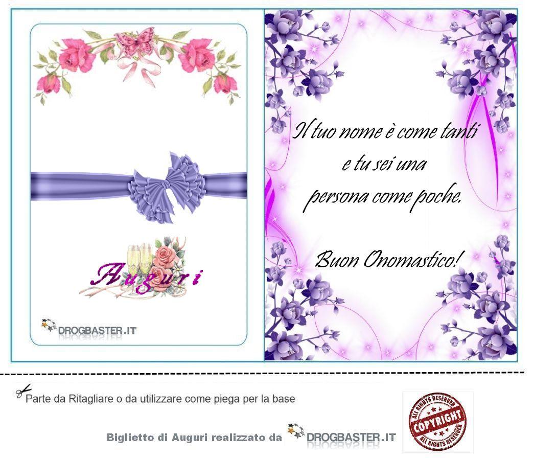 Matrimonio Auguri O Felicitazioni : Scarica gratis biglietti auguri festa onomastico