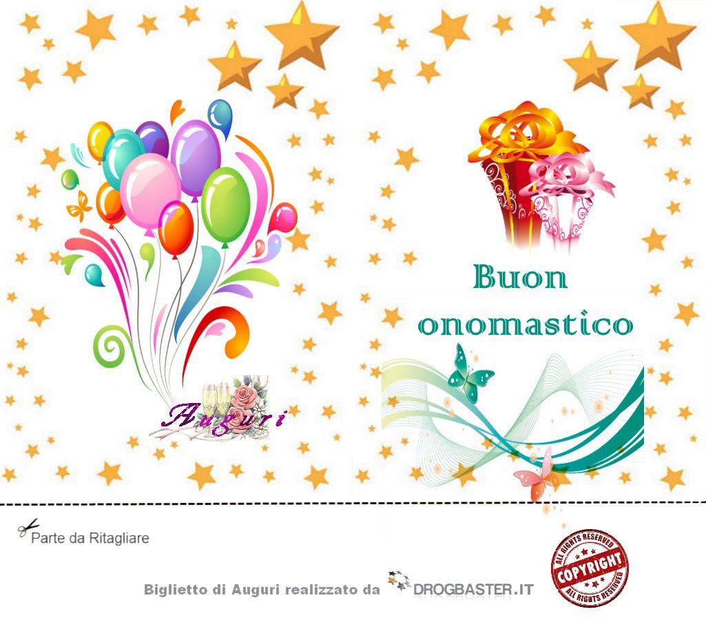 Conosciuto Scarica gratis biglietti auguri festa Onomastico TO72