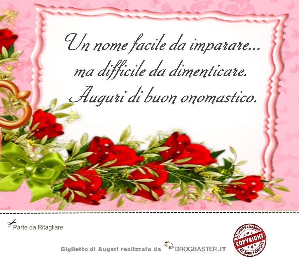 Amato Scarica gratis biglietti auguri festa Onomastico FL82