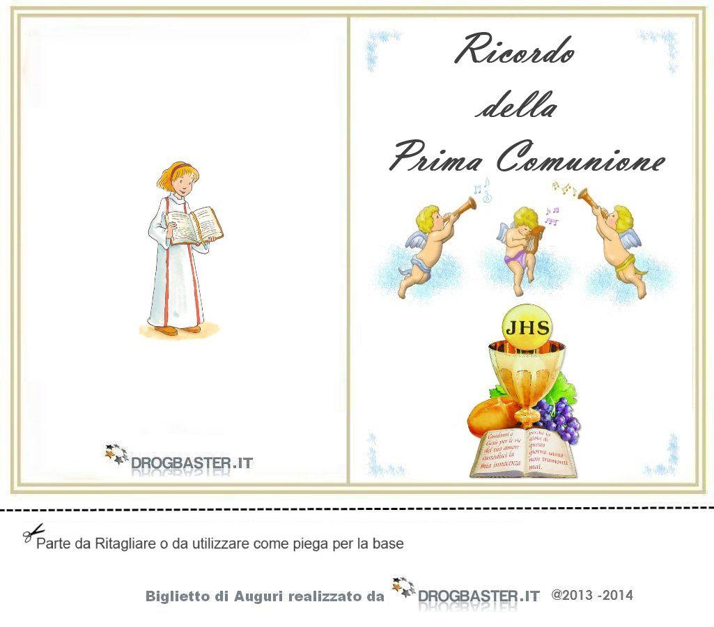 Favoloso Biglietti Prima Comunione - Cresima da stampare gratis XY83