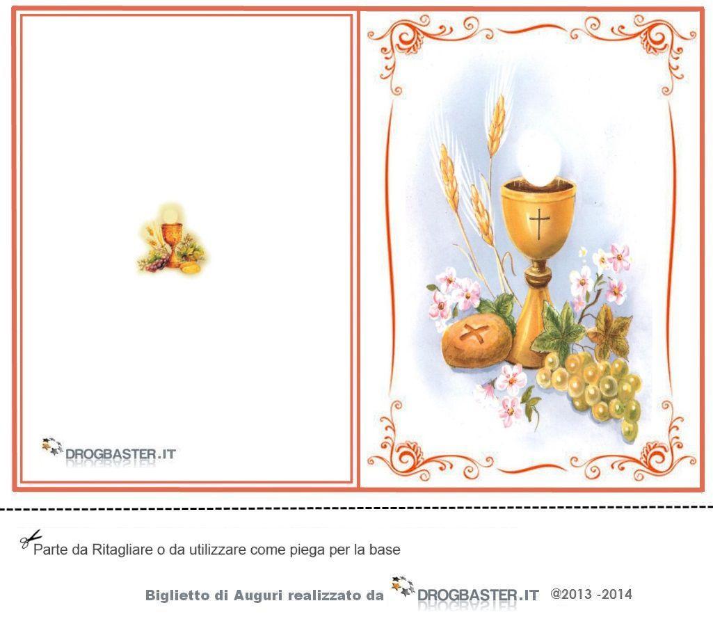 Assez Biglietti Prima Comunione - Cresima da stampare gratis AP01