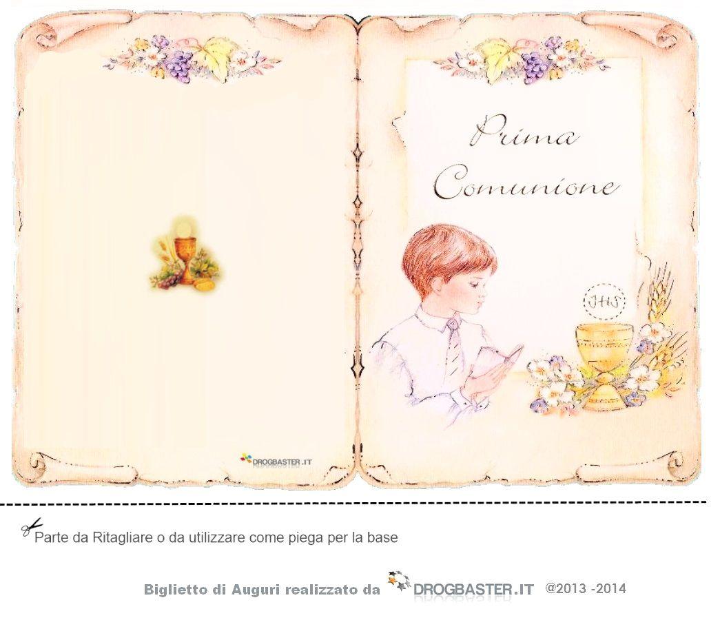 Auguri Matrimonio Dagli Zii : Biglietto per prima comunione o la cresima da stampare