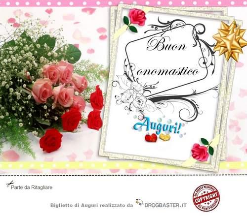 Matrimonio Auguri Biglietto : Scarica gratis biglietti auguri festa onomastico