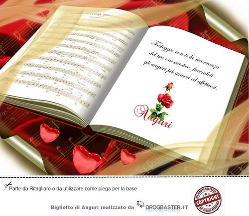 Auguri Buon Matrimonio : Biglietti fai da te di auguri buon onomastico