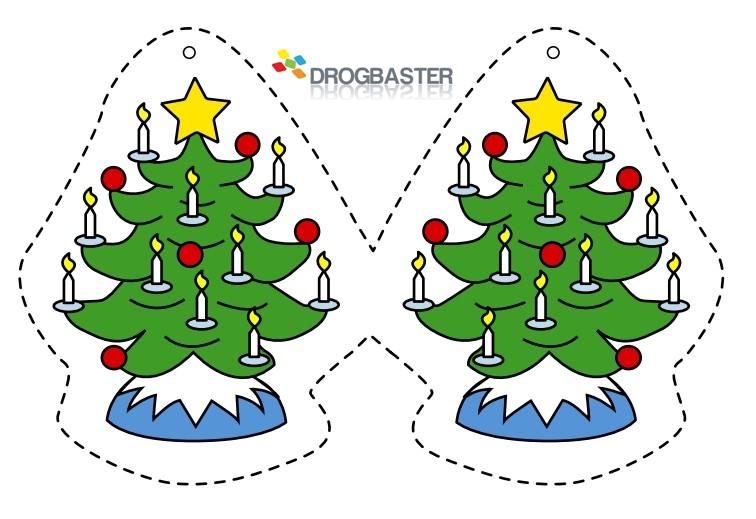 Decorazioni di natale per casa scuola e asilo decora le - Decorazioni natalizie da ritagliare ...