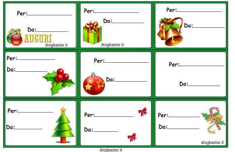 Etichette chiudipacco per regali di natale decorazioni for Sito regali gratis