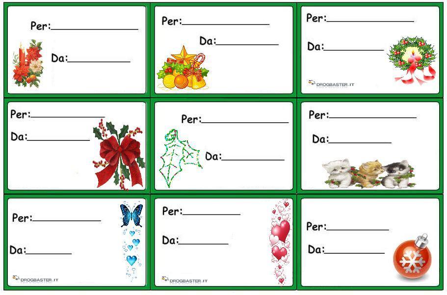 Etichette Per Regali Di Natale Da Stampare.Etichette Chiudipacco Per Regali Di Natale Decorazioni