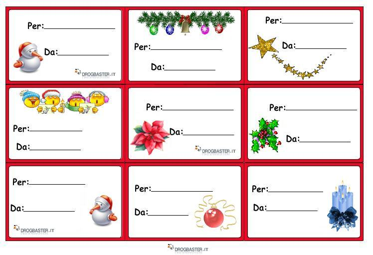 Famoso Etichette chiudipacco per regali di Natale decorazioni KL89