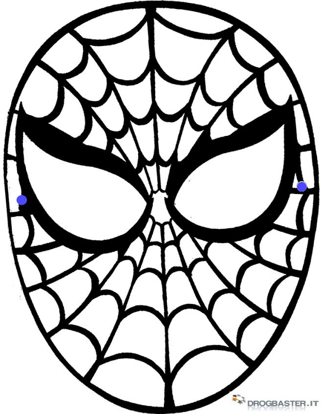 Maschere per bambini di carnevale for Maschere da colorare spiderman
