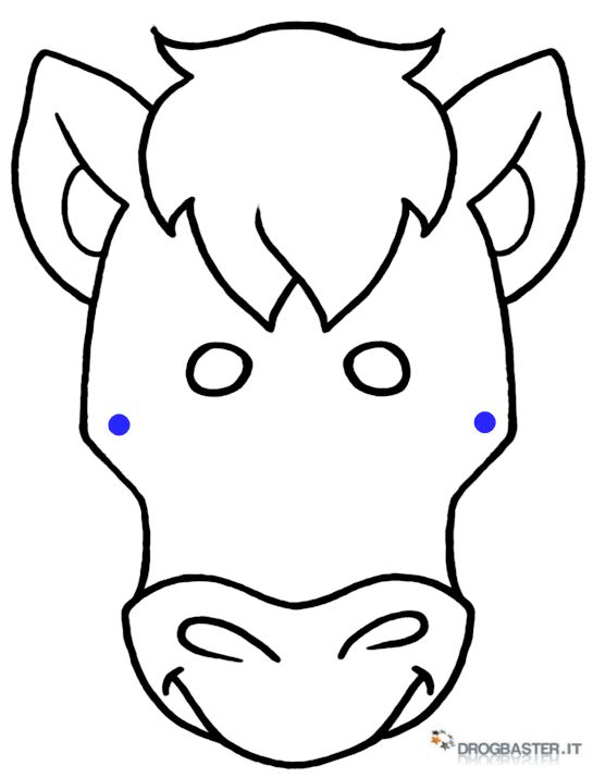 Stampa e colora le maschere di carnevale tanti personaggi - Pony da colorare in immagini ...