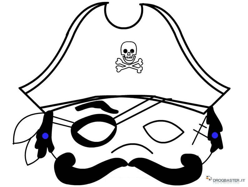 Maschere per bambini di carnevale for Disegni da stampare colorare e ritagliare