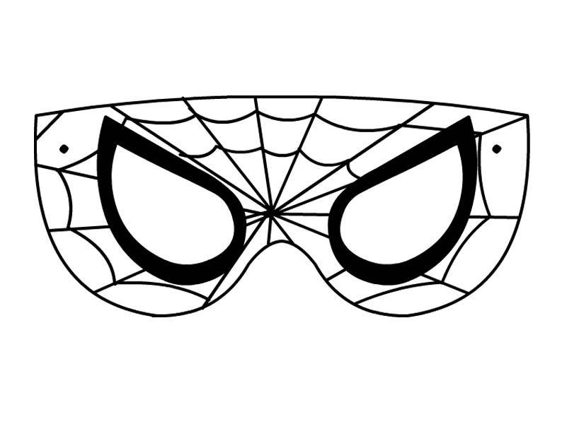 Maschere per bambini di carnevale Disegni spiderman da colorare gratis