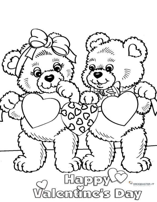 Disegni da stampare e colorare per san valentino for Disegni di cuori da stampare gratis