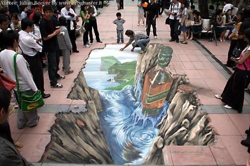 Disegni 3D su strada artisti