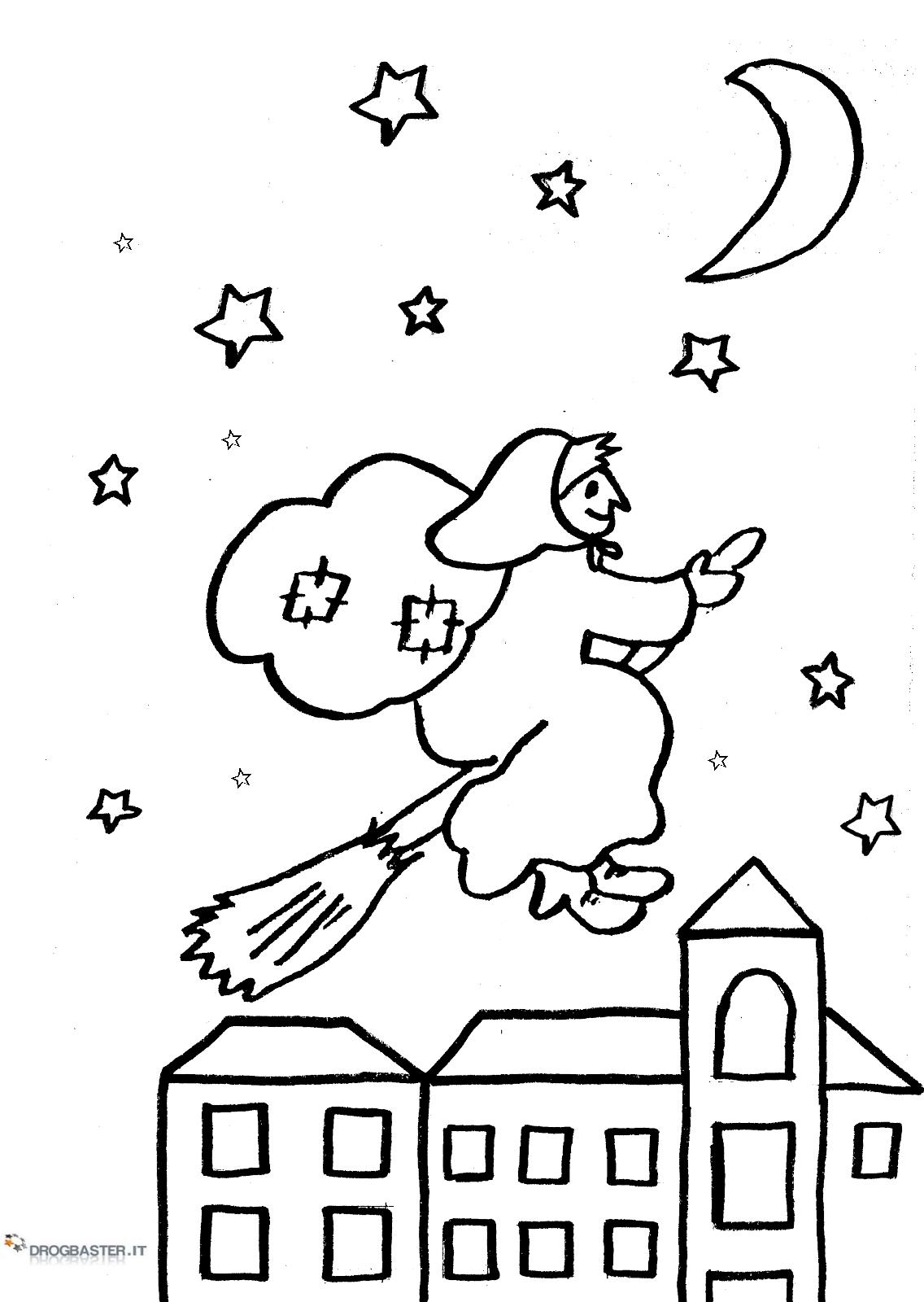 disegni da colorare e stampare gratis della befana