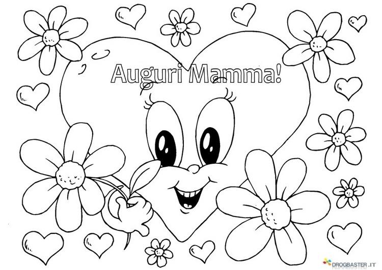 Auguri Mamma Disegni Per Bambini Da Stampare E Colorare