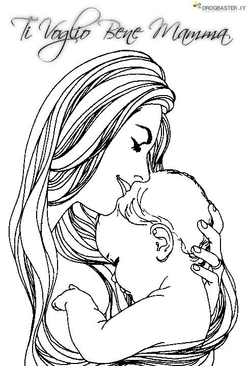 Auguri mamma speciale festa della mamma disegni per bambini for Casa immagini da colorare