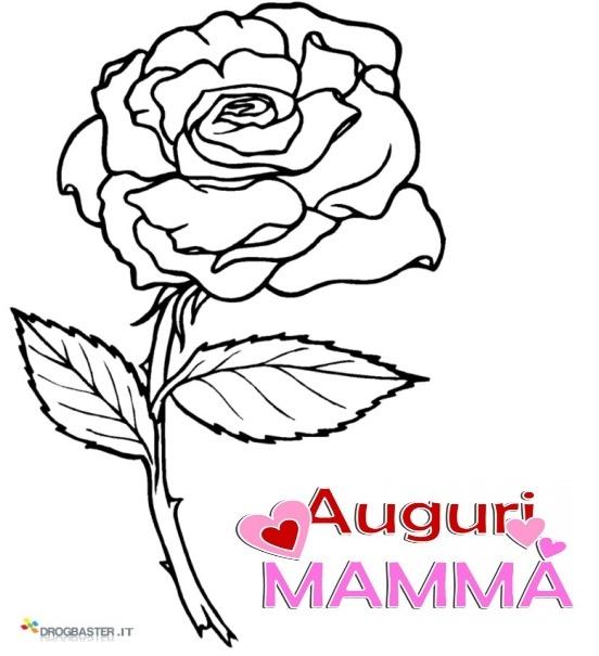 Auguri mamma speciale festa della mamma disegni per bambini for Colorare le rose