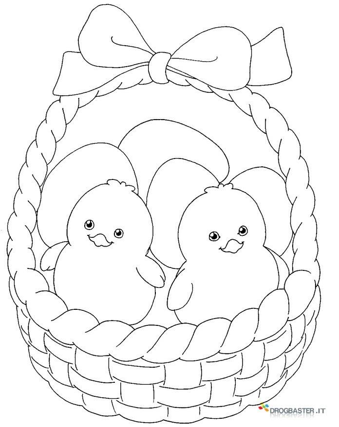 Disegni di pasqua da stampare e colorare per bambini for Disegni da colorare di pasqua