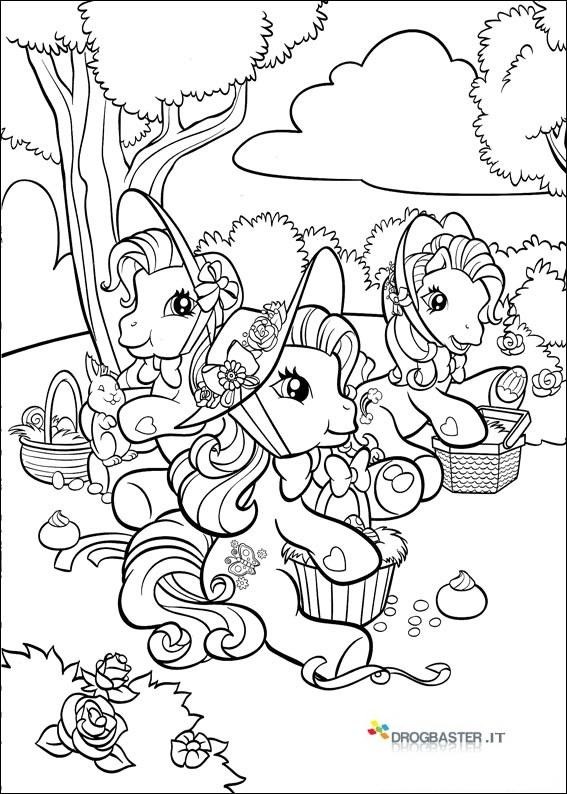 Disegni di pasqua da stampare e colorare per bambini - Immagini di pony gratis da stampare ...