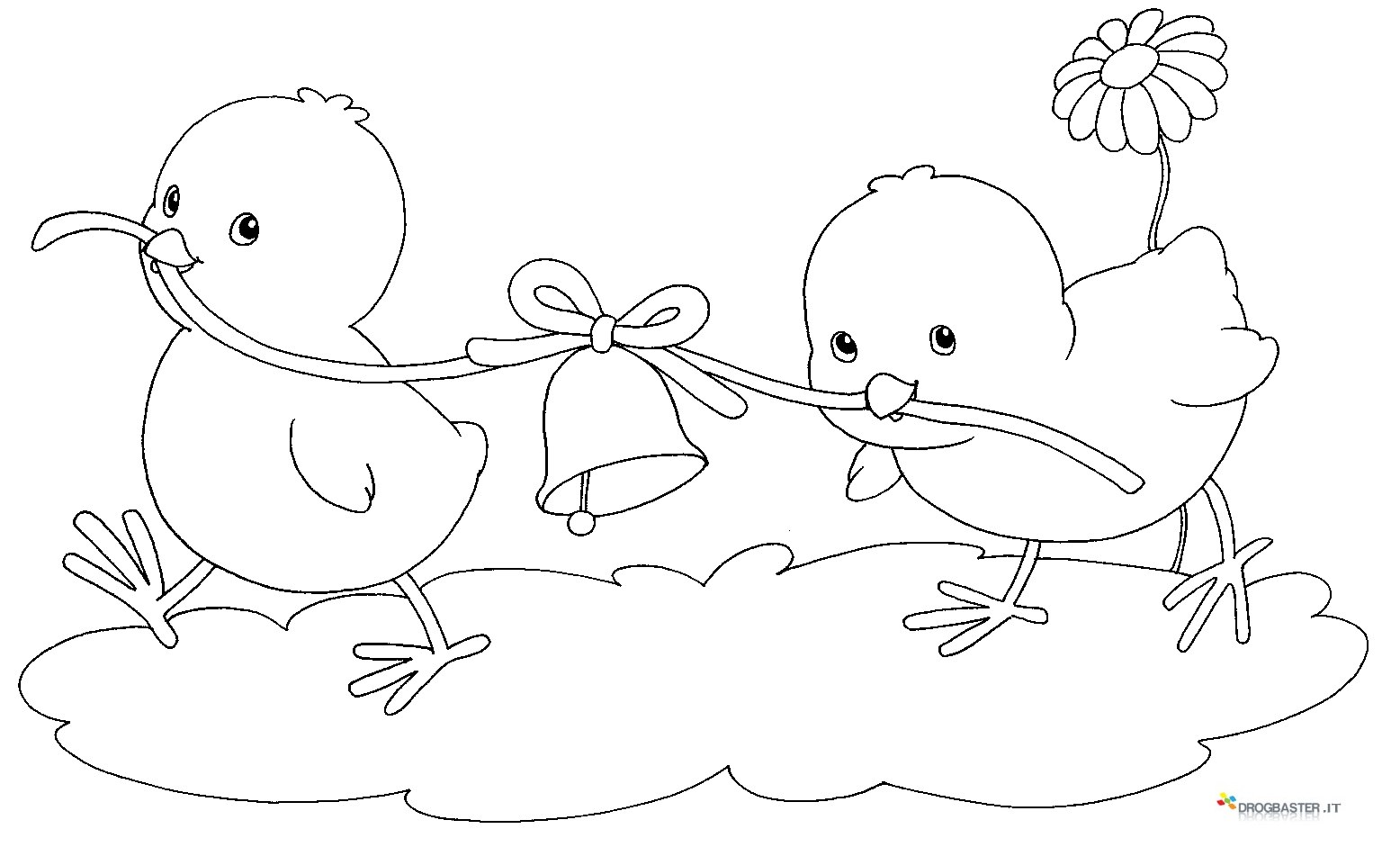 Speciale disegni per bambini da colorare per pasqua for Coniglio disegno per bambini