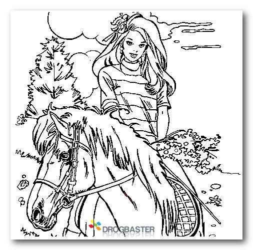 Colorare i personaggi dei cartoni animati gratis for Disegni cavalli da stampare