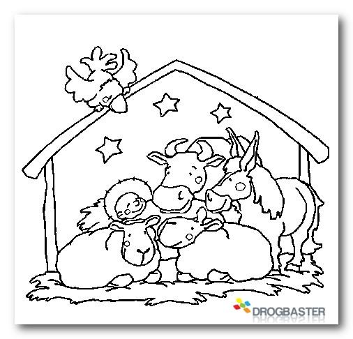 Colora disegni di natale con pupazzo di neve e decorazioni for Immagini natalizie da colorare