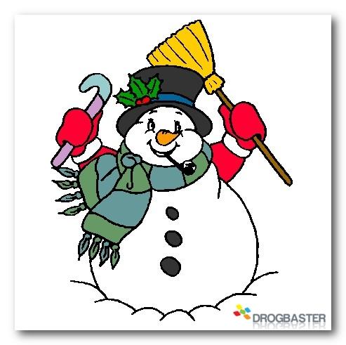 Colora disegni di natale con pupazzo di neve e decorazioni - Immagini da colorare la neve ...