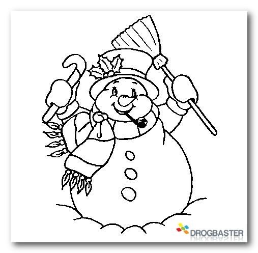 Colora Disegni Di Natale Pupazzo Di Neve E Decorazioni Natalizie