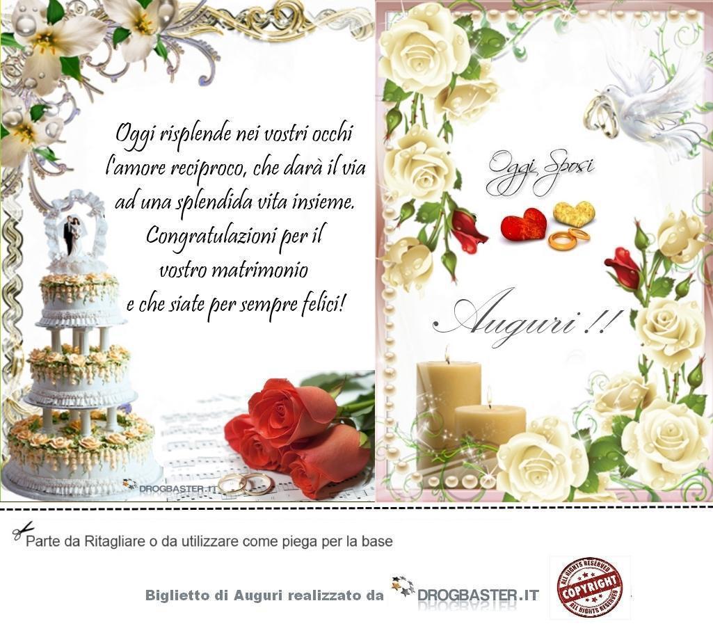 Auguri Il Vostro Matrimonio : Biglietto da stampare gratis in occasione matrimonio