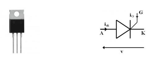 tiristore componente simbolo