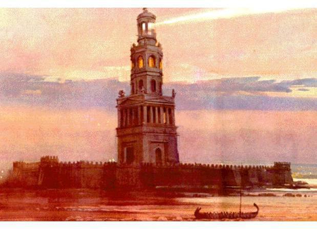 Il faro di Alessandria in Egitto
