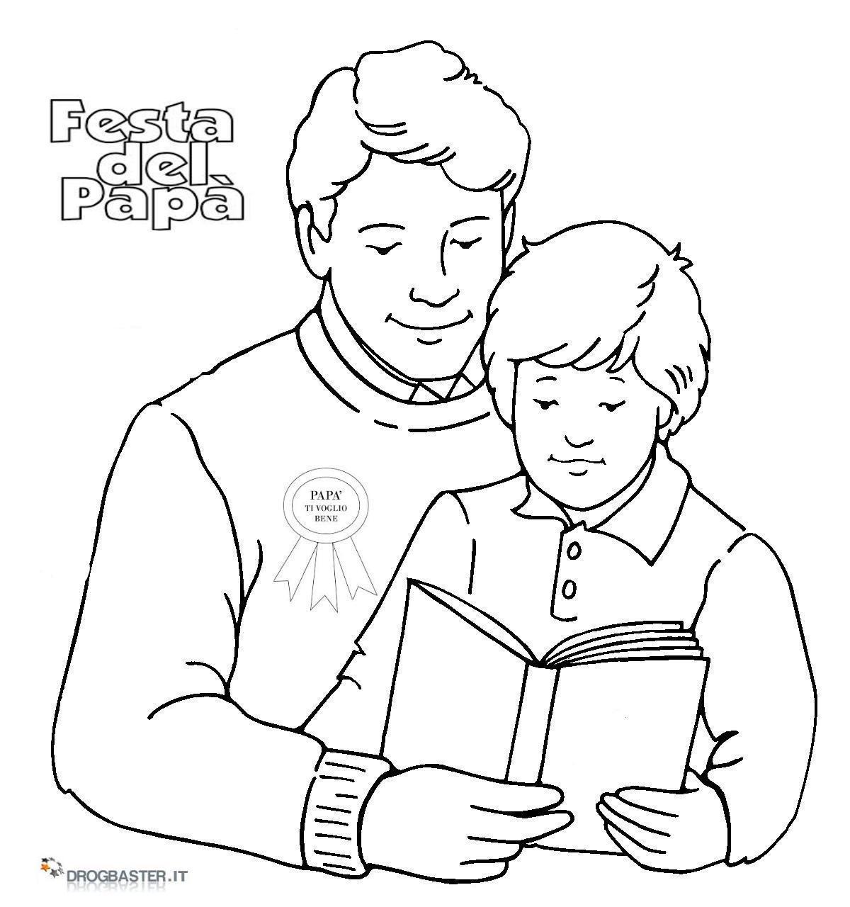 Disegni Per La Festa Del Papà Da Colorare E Stampare Gratis