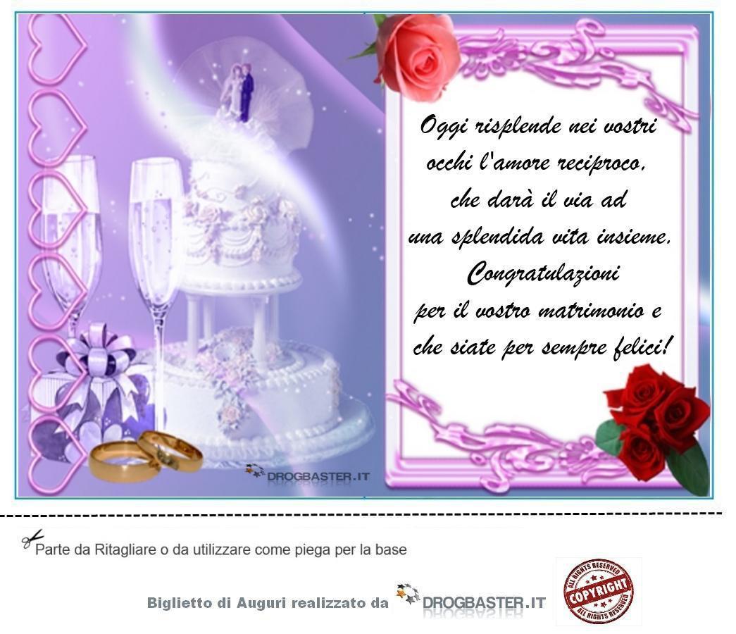 Frasi Matrimonio Auguri Semplici : Biglietto da stampare gratis in occasione matrimonio