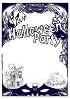 disegni cornice con scritta halloween