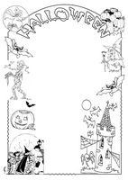 cornice decorata con personaggi