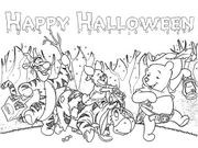 happy halloween personaggi disney  per bambini