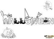 disegni scritta halloween