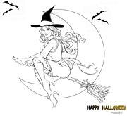 Disegni Halloween Strega
