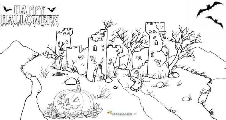 Halloween disegni per bambini da colorare gratis for Immagini halloween da colorare e stampare