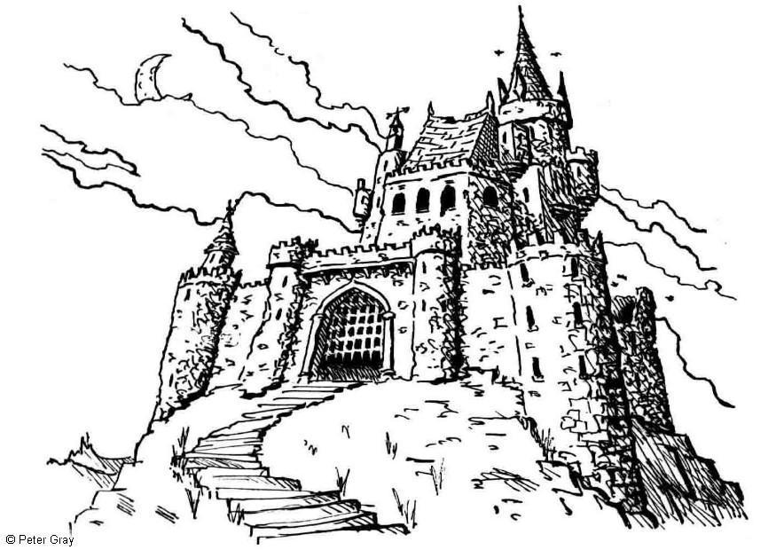 Halloween disegni per bambini da colorare gratis for Disegni casa castello