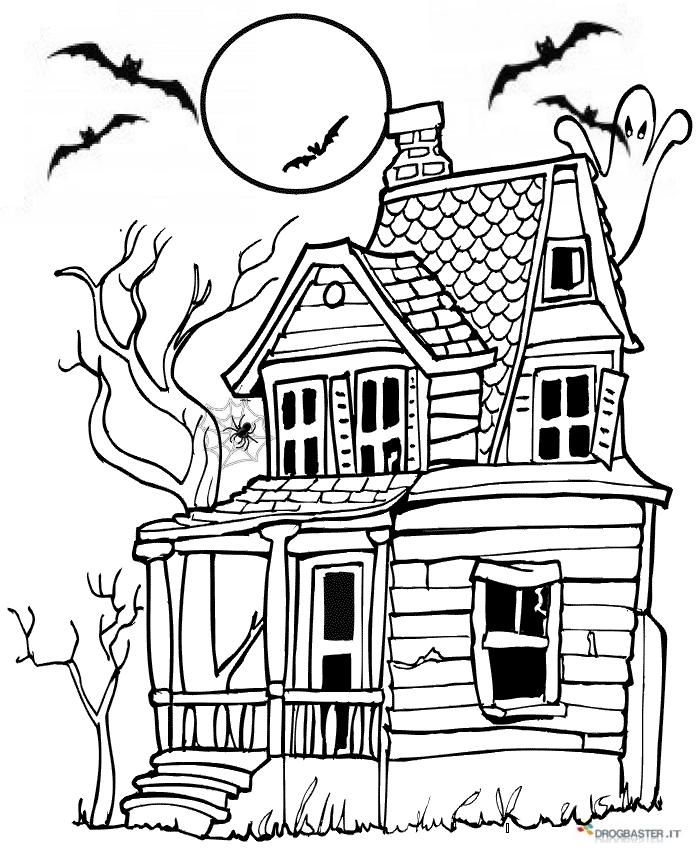 Halloween disegni per bambini da colorare gratis for Disegni di lupi da colorare