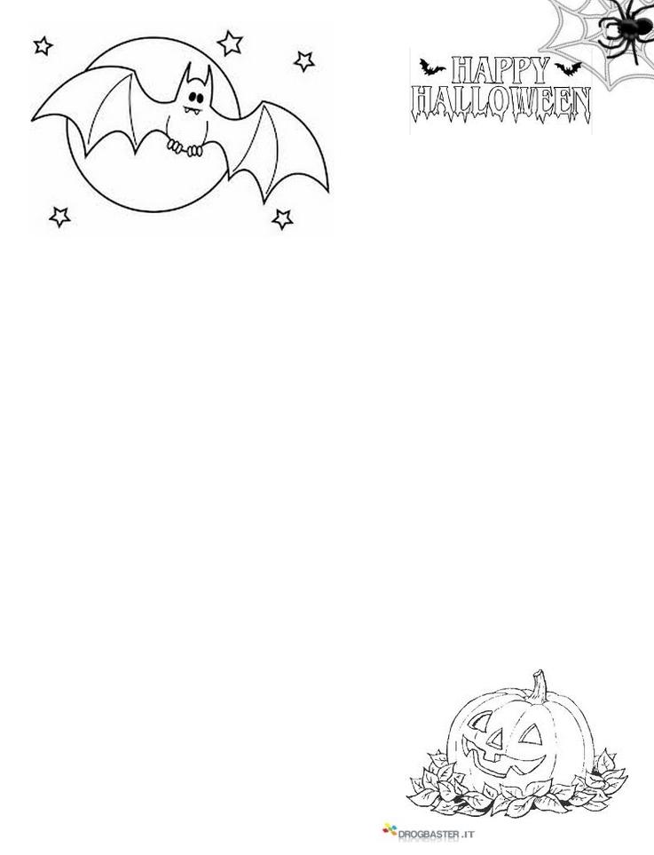 Disegni halloween per bambini da stampare e colorare - Halloween immagini da colorare ...